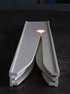 Fire resistance test(by Oxy-acetylene flame)2