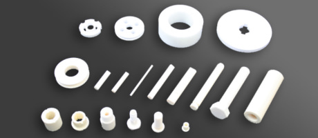 Ceramic machine parts and ceramic pump parts