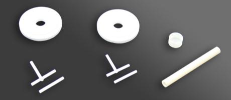 Ceramic parts for temperature sensor parts