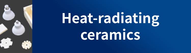 Heat-radiating ceramics